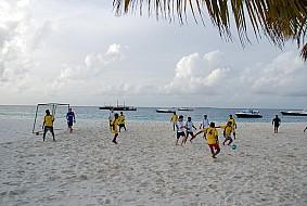 Huvafenfushi football staff vs management.