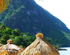 Beach and Piton