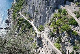 Capri walkway to beach